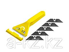 Набор STAYER STANDARD: Скребок пластмассовый с 5 лезвиями, 50мм, 0851-H6_z01