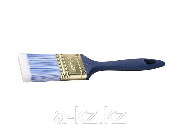 Кисть плоская малярная ЗУБР 4-01013-050, АКВА-МАСТЕР КП-13, искусственная щетина, пластмассовая ручка, 50 мм, фото 2