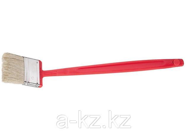 Кисть плоская малярная ЗУБР 4-01052-050, БСГ-52, удлиненная с быстросъемной головой, натуральная щетина, пластмассовая ручка, 50 мм, фото 2