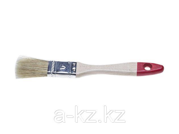 Кисть плоская малярная STAYER 0101-020, UNIVERSAL-STANDARD, светлая натуральная щетина, деревянная ручка, 20 мм, фото 2
