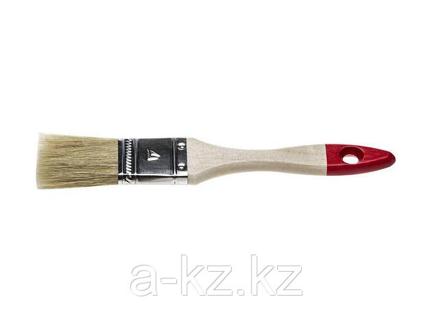 Кисть плоская малярная STAYER 0101-025, UNIVERSAL-STANDARD, светлая натуральная щетина, деревянная ручка, 25 мм, фото 2