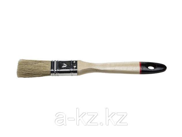 Кисть плоская малярная STAYER 0102-020, UNIVERSAL-EURO, светлая натуральная щетина, деревянная ручка, 20 мм, фото 2