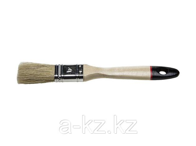 Кисть плоская малярная STAYER 0102-025, UNIVERSAL-EURO, светлая натуральная щетина, деревянная ручка, 25 мм, фото 2