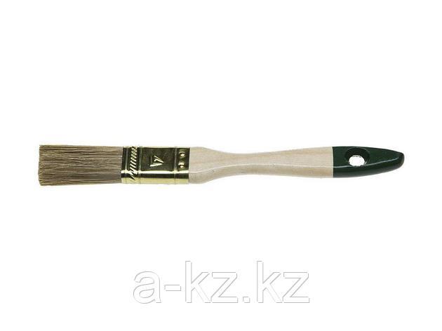 Кисть плоская малярная STAYER 01031-20, LASUR-STANDARD, смешанная (натуральная и искусственная) щетина, деревянная ручка, 20 мм, фото 2