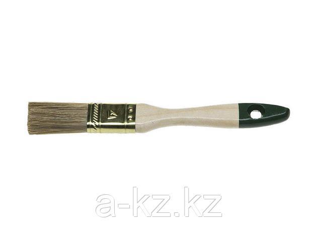 Кисть плоская малярная STAYER 01031-25, LASUR-STANDARD, смешанная (натуральная и искусственная) щетина, деревянная ручка, 25 мм, фото 2
