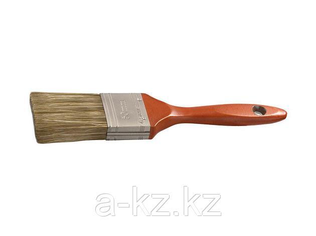 Кисть плоская малярная STAYER 01051-050, LASUR - LUX, деревянная ручка, смешанная щетина, 50 мм, фото 2