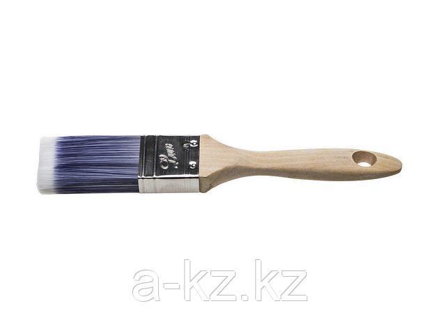 Кисть плоская малярная STAYER 01055-038, AQUA-LUX, искусственная щетина, неокрашенная профессиональная деревянная ручка, 38 мм, фото 2