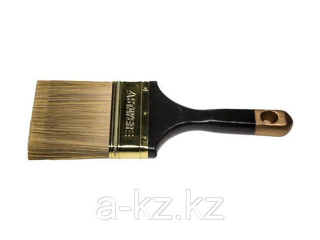 Кисть плоская малярная STAYER 0106-100, AQUA-KANEKARON, искусственная щетина, деревянная ручка, 100 мм, фото 2