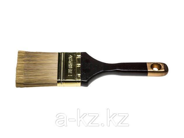 Кисть плоская малярная STAYER 0106-063, AQUA-KANEKARON, искусственная щетина, деревянная ручка, 63 мм, фото 2