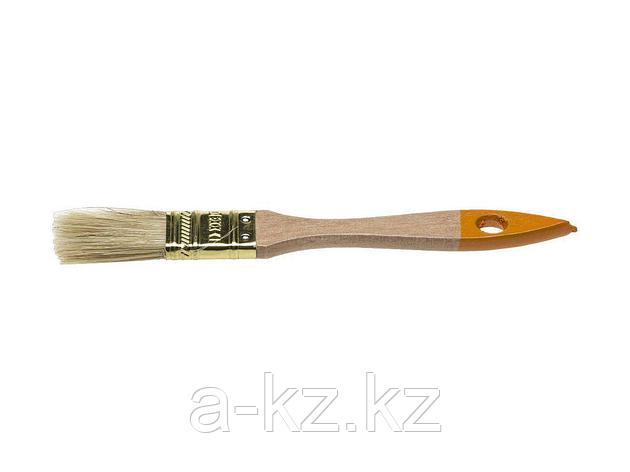 Кисть плоская малярная DEXX 0100-020_z02, ПРАКТИК , деревянная ручка, натуральная щетина, индивидуальная упаковка, 20мм,, фото 2