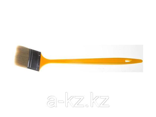 Кисть радиаторная малярная STAYER 0110-75_z01, UNIVERSAL-MASTER, светлая натуральная щетина, пластмассовая ручка, 75 мм, фото 2