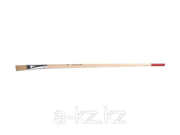 Кисть круглая малярная тонкая STAYER 0124-10, UNIVERSAL-STANDARD, светлая натуральная щетина, деревянная ручка, №10 x 11 мм, фото 2