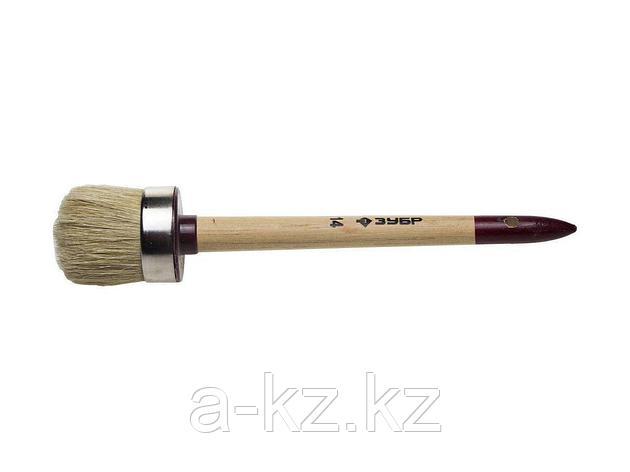 Кисть круглая малярная ЗУБР 01501-50, УНИВЕРСАЛ - МАСТЕР, светлая щетина, деревянная ручка, №14 х 50 мм, фото 2