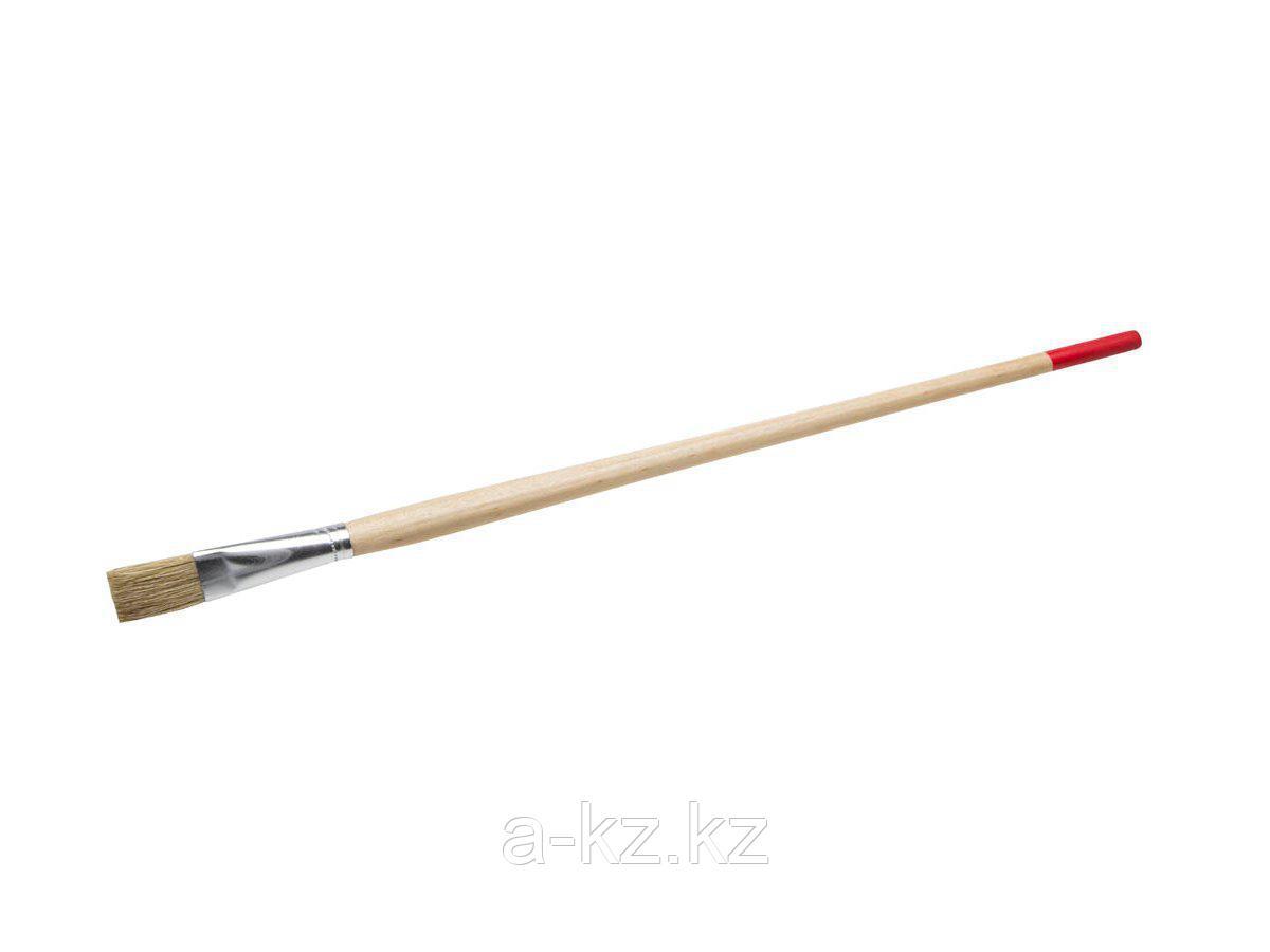 Кисть круглая малярная тонкая STAYER 0124-14, UNIVERSAL-STANDARD, светлая натуральная щетина, деревянная ручка, №14 x 15 мм