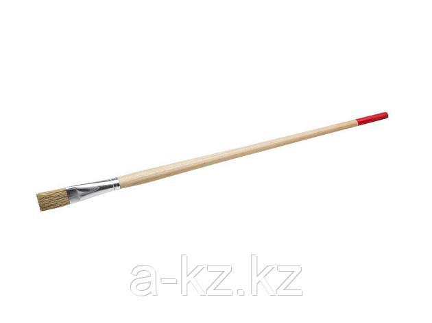 Кисть круглая малярная тонкая STAYER 0124-14, UNIVERSAL-STANDARD, светлая натуральная щетина, деревянная ручка, №14 x 15 мм, фото 2