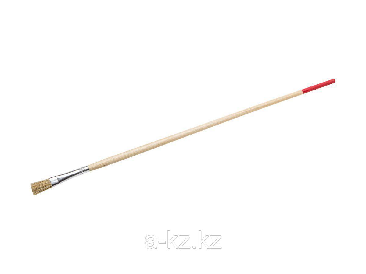 Кисть круглая малярная тонкая STAYER 0124-06, UNIVERSAL-STANDARD, светлая натуральная щетина, деревянная ручка, №6 x 8 мм