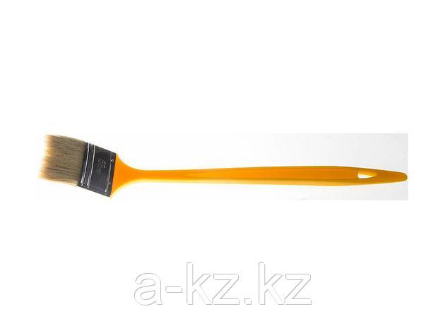 Кисть радиаторная малярная STAYER 0110-63_z01, UNIVERSAL-MASTER, светлая натуральная щетина, пластмассовая ручка, 63 мм, фото 2