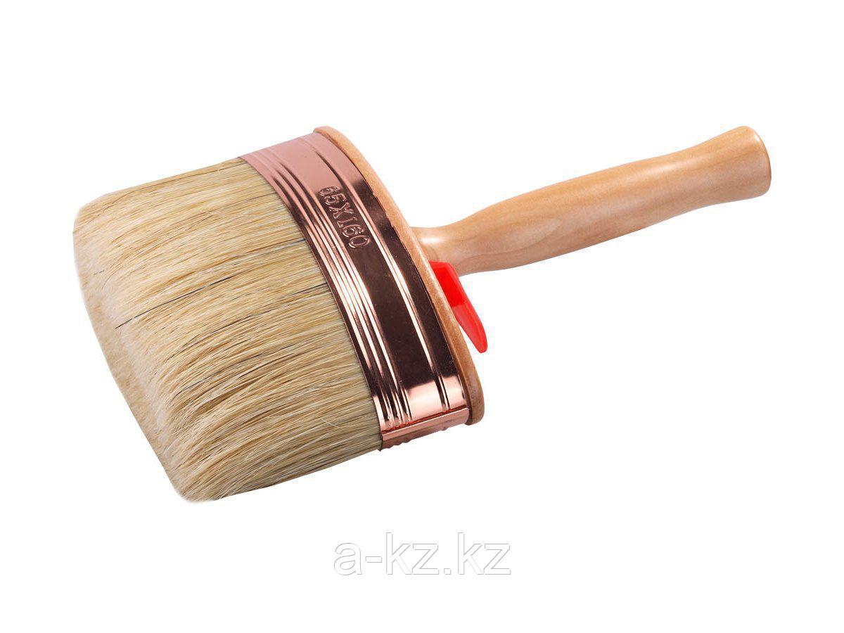 Кисть макловица малярная STAYER 0181-14, UNIVERSAL-PROFI МАХI, овальная, натуральная щетина, металлический бандаж, деревянный корпус, 60 мм, 45 x 140