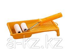 Валик малярный в наборе, STAYER, ПОРОЛОН МИНИ с ванночкой, 50мм, 0544-05