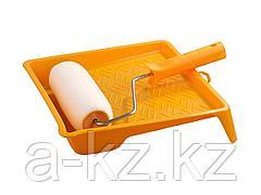 Валик малярный в наборе, STAYER, ПОРОЛОН с ванночкой, 180мм, 2-05438-18