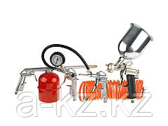 Набор краскопульт пневматический STAYER 06488-H5, MASTER, универсальный, краскораспылитель с верхним бачком, пистолеты, пневмошланг, 5 предметов