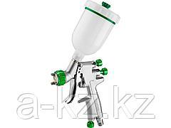 Краскопульт пневматический KRAFTOOL 06561-0.8, PRO Jeta 3000 mini, HVLP, c верхним бачком, 0,8 мм