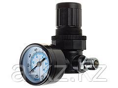 Манометр для пневмосистем KRAFTOOL 06503, EXPERT QUALITAT, с регулятором подачи воздуха, 1/4, максимальное давление 10 атмосфер
