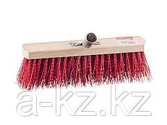 Щетка GRINDA EURO уличная без ручки, буковая колодка, жесткая щетина, с металлическим держателем для черенка, 30см, 39193-30