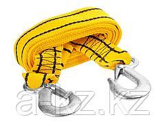 Трос буксировочный STAYER 61207-2.5, STANDARD, 2 крюка, сумка, 4 м, 2,5 т