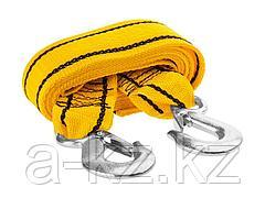 Трос буксировочный STAYER 61207-3.5, STANDARD, 2 крюка, сумка, 4 м, 3,5 т