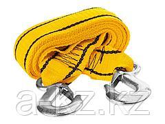 Трос буксировочный STAYER 61207-5.0, STANDARD, 2 крюка, сумка, 4 м, 5 т