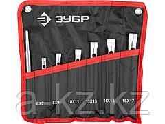 Набор ключей ЗУБР МАСТЕР: торцовые, трубчатые двухсторонние, 6-17мм, с воротком, 7шт, 27162-H7