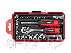 Набор инструментов торцевые головки и биты ЗУБР 27642-H35, МАСТЕР,  дополнительные принадлежности, Cr-V, 4 - 13 мм, 35 предметов