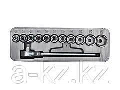 Набор инструментов торцовые головки НИЗ 27610-H12, Спутник, в пластиковом кейсе, 12 предметов