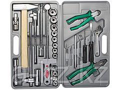 Набор инструментов универсальный НИЗ 27620, УНИВЕРСАЛ - 2, сталь 40Х, в пластиковом кейсе, 29 предметов