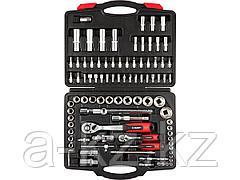 Набор инструментов торцевые головки и биты ЗУБР 27635-H94, МАСТЕР, FLANK, биты-головки, дополнительные принадлежности, Cr-V, 4 - 32 мм, 94 предмета