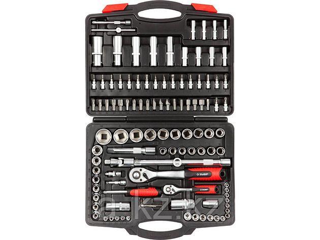 Набор инструментов торцевые головки и биты ЗУБР 27635-H110, МАСТЕР, FLANK, биты-головки, дополнительные принадлежности, Cr-V, 4 - 32 мм, 110 предметов, фото 2