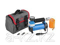 Автомобильный компрессор ЗУБР 61125, ЭКСПЕРТ, давление 7 атм., длина провода 3 м, длина шланга 1 м, 3 насадки
