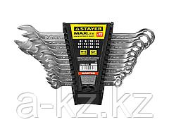 Гаечный комбинированный ключ набор STAYER MASTER  хромированный, 8-24  мм, 12 шт.