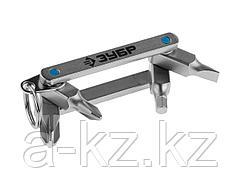 Инструмент многофункциональный Мультитул ЗУБР 27427-H4, ЭКСПЕРТ, для горнолыжного и сноубордического снаряжения, суперкомпактный, HEX,SL 5 мм,PH №2,PZ
