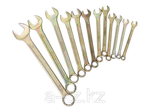 Гаечный комбинированный ключ набор STAYER ТЕХНО  6-22мм, 12 предметов, 27090-H12, фото 2