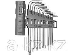 Набор ключей ЗУБР ЭКСПЕРТ имбусовые длинные с шариком, Cr-Mo, сатинир. покер., держатель-рукоятка, TORX Т10-Т50, 9 пред, 2745-4-1_z01
