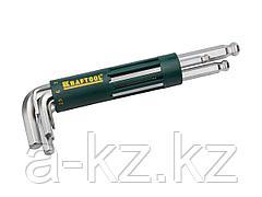 Набор ключей KRAFTOOL EXPERT имбусовые длинные с шариком, Cr-Mo сталь, держатель-рукоятка, HEX 2-10мм, 8 пред, 27431-2_z01