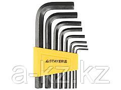 Набор ключей STAYER STANDARD имбусовые, 2 - 10мм, 8 шт, 27405-H8