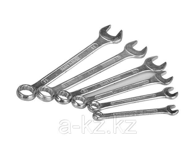 Гаечный комбинированный ключ набор МЕХАНИК  оцинкованные, 6-14мм, 6шт., 27016-H6, фото 2