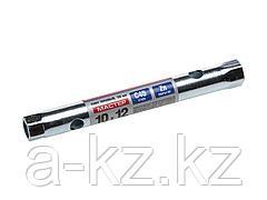 Ключ торцовый ЗУБР МАСТЕР, трубчатый двухсторонний, прямой, 10х12мм, 27162-10-12