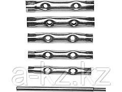 Набор ключей DEXX: трубчатые, 8-17мм, 6 предметов, 27192-H6
