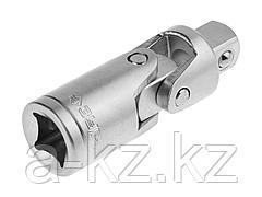 Шарнир карданный для торцовых головок ЗУБР 27723-1/2, МАСТЕР, (1/2), Cr-V, хроматированное покрытие