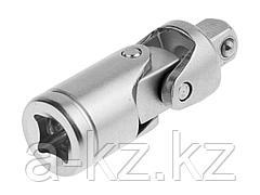 Шарнир карданный для торцовых головок ЗУБР 27723-1/4, МАСТЕР, (1/4), Cr-V, хроматированное покрытие