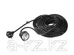 Удлинитель электрический ЗУБР, ПВС 3х1кв мм, черный, 1 гнездо, макс мощн 2200Вт, 20м, 55013-20